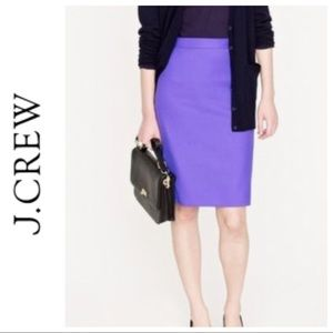 J. CREW NO. 2 PENCIL SKIRT PURPLE SIZE 0